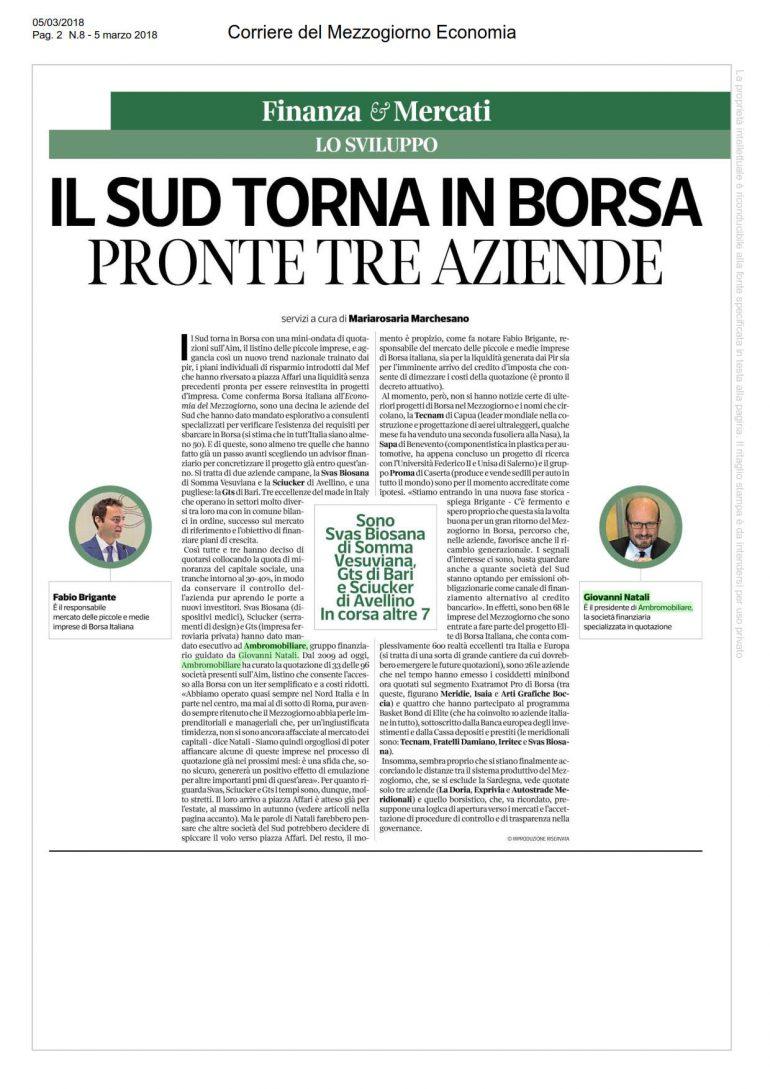 Corriere del mezzogiorno 5 marzo 2018