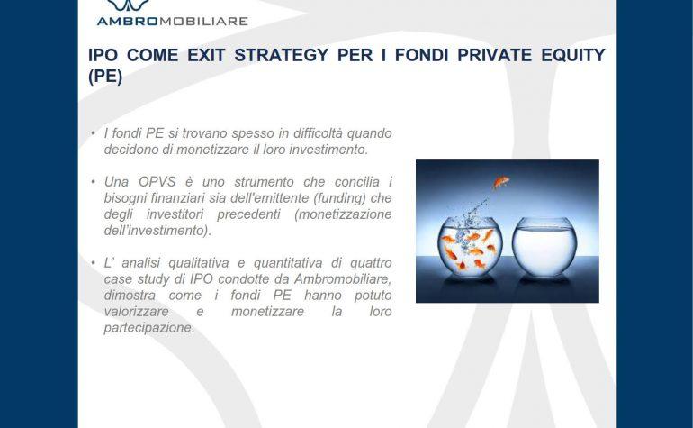 IPO come exit strategy per i fondi PE