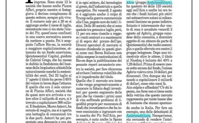Milano Finanza 3 agosto 2019