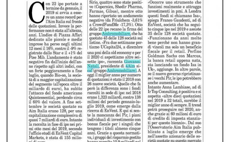 Milano Finanza 28 settembre 2019