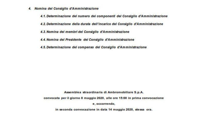 Relazione illustrativa Nomina del CdA