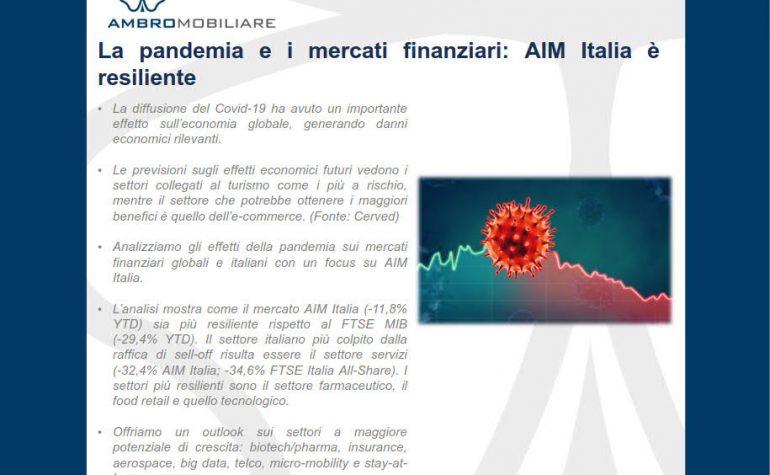 La pandemia e i mercati finanziari: AIM Italia è resiliente!