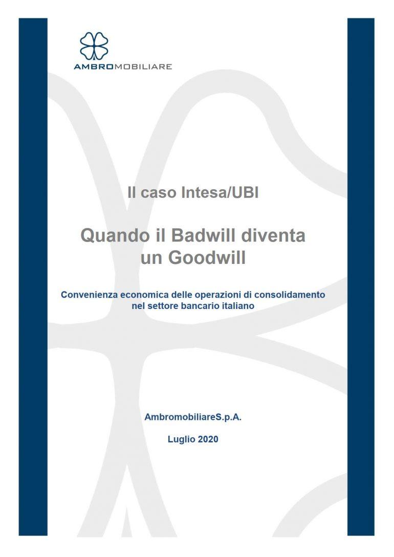 Pubblicazione ufficio studi Ambromobiliare luglio 2020 Goodwill negativo e le banche