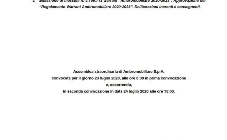 Relazione illustrativa per l'assemblea straordinaria (2.)