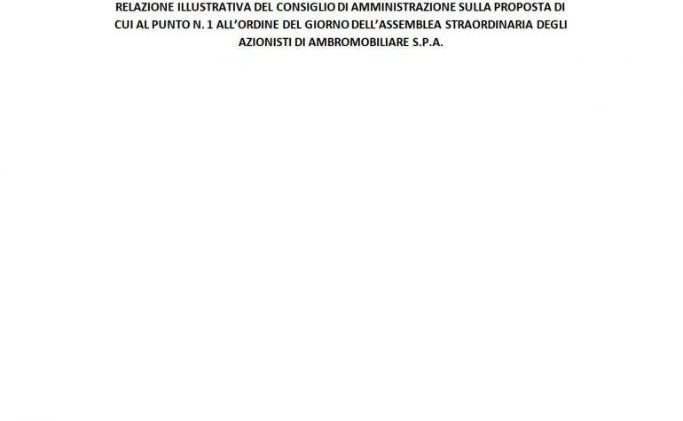 Relazione illustrativa CdA: Modifica statuto