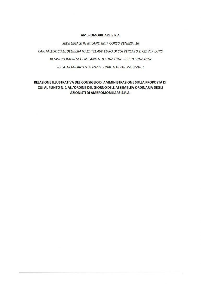 Relazione illustrativa Cda: bilancio al 31 dicembre 2020