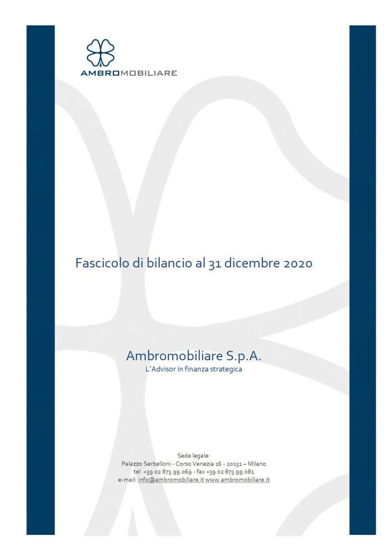 Bilancio al 31 dicembre 2020