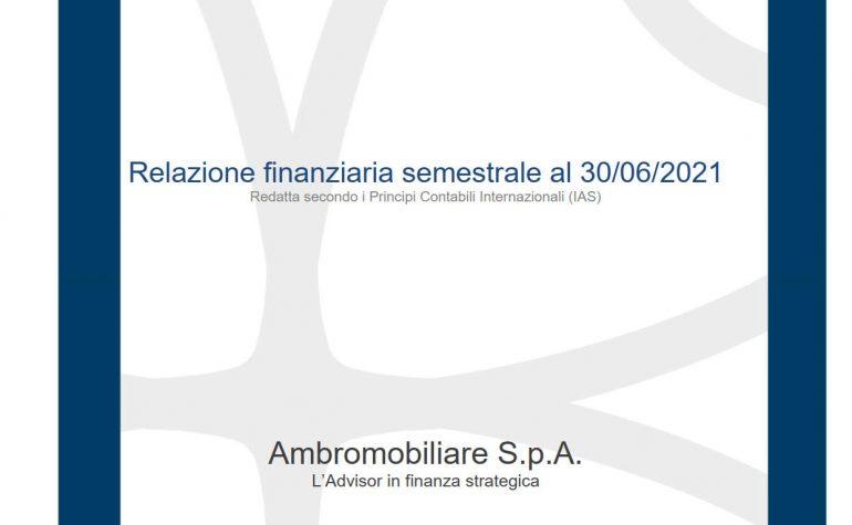 Relazione finanziaria semestrale al 30 giugno 2021